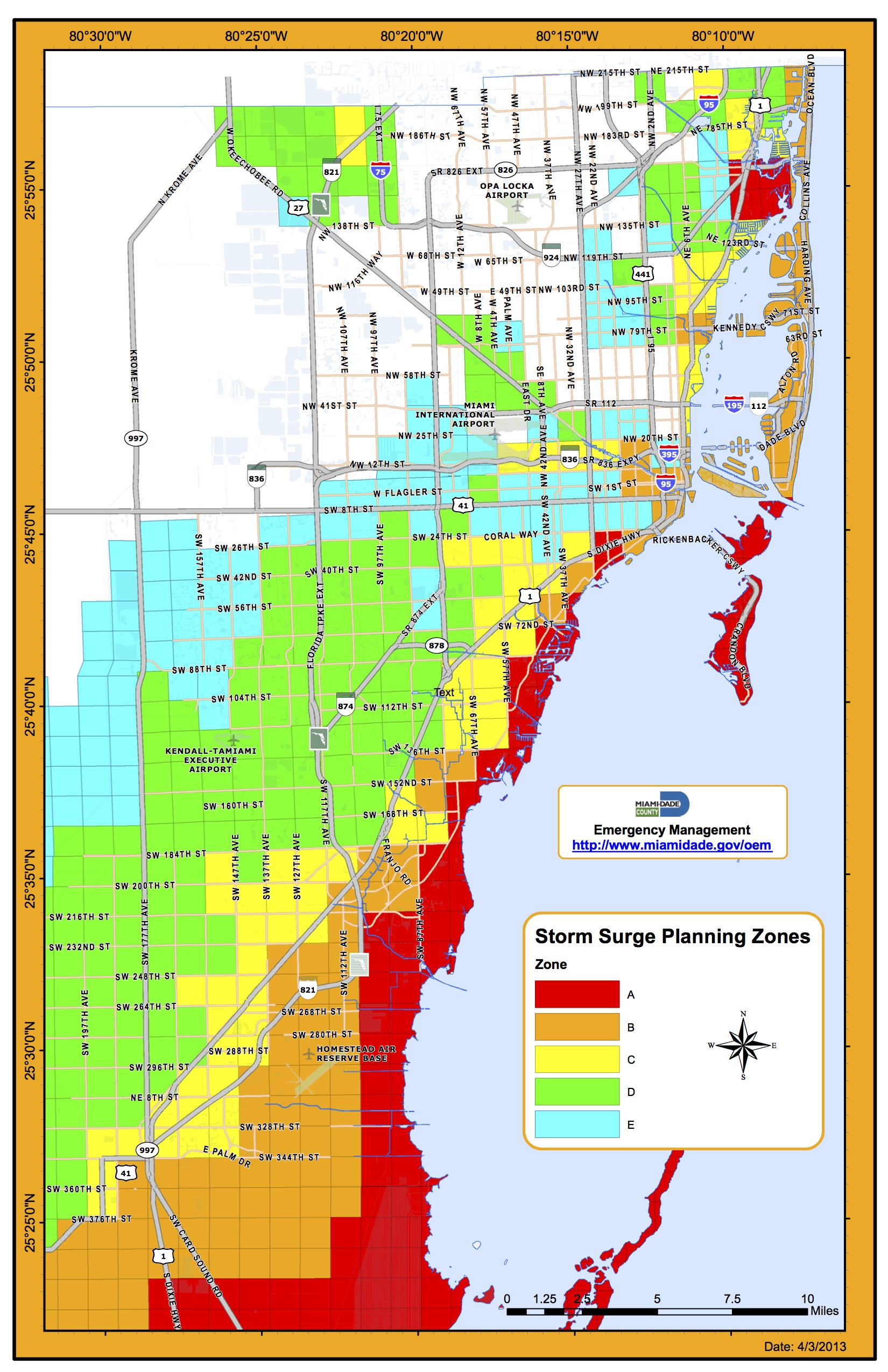 Storm Surge Planning Zone Map